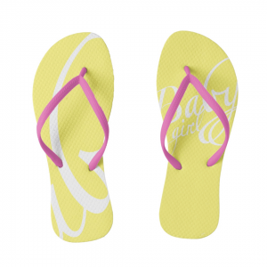 Babygirl-Purkka-Flip-Flops designed by Blondina Elms Pastel, elms The Boutique