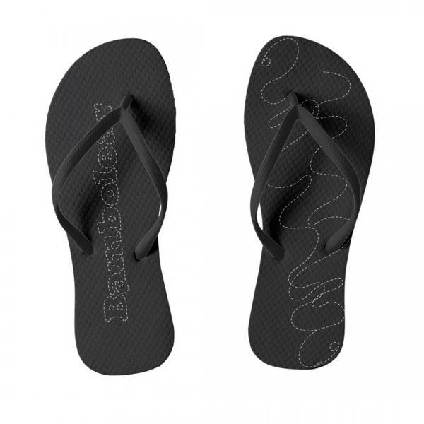 Bambolera-Musta-Flip-Flops designed by Blondina Elms Pastel, elms The Boutique