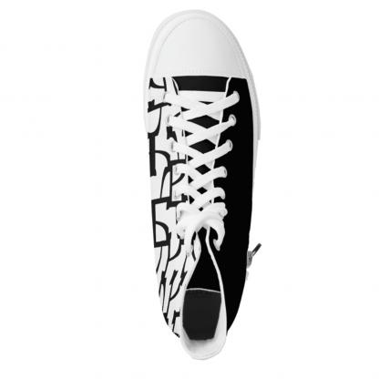 Sokkelo Kaksi-High-fashion sneakers designed by Blondina Elms Pastel, elms The Boutique
