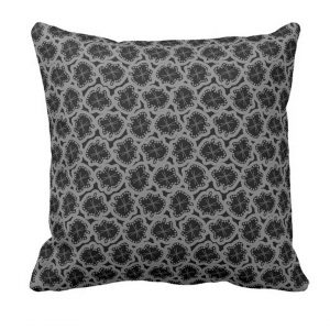 Ameeba-Musta-Throw-Pillow designed by Blondina Elms Pastel, elms The Boutique