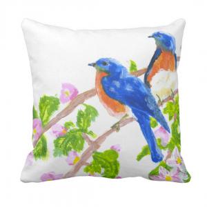 Kevat-Throw-Pillow designed by Blondina Elms Pastel, elms The Boutique