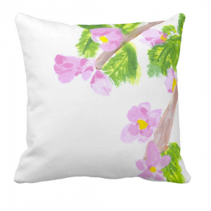 Kukka-Throw-Pillow designed by Blondina Elms Pastel, elms The Boutique