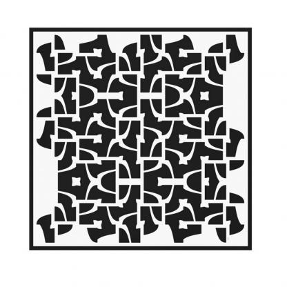 Labyrintti-canvas-print designed by Blondina Elms Pastel, elms The Boutique