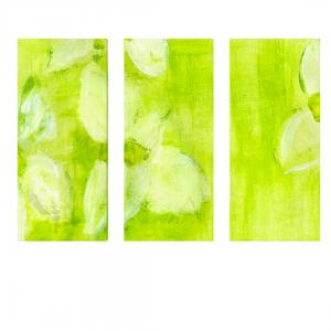 Lehdet-triptych-canvas-print designed by Blondina Elms Pastel, elms The Boutique