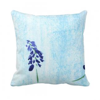 Purppura-Throw-Pillow designed by Blondina Elms Pastel, elms The Boutique