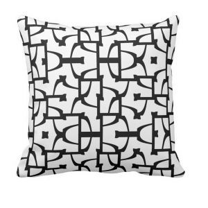 Sokkelo-Throw-Pillow designed by Blondina Elms Pastel, elms The Boutique