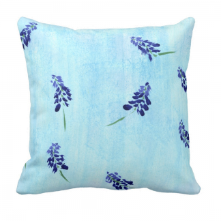 Teralehti-Throw-Pillow designed by Blondina Elms Pastel, elms The Boutique
