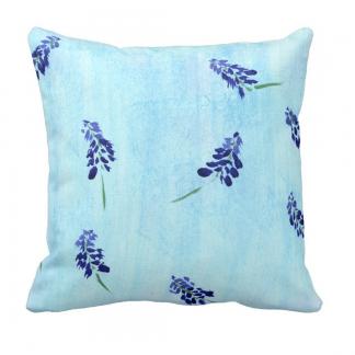Teralehti-Throw-Pillow designed by Blondina Elms Pastel, elms The Boutique