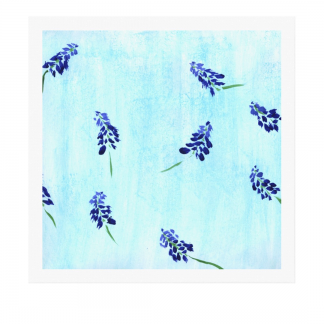 Teralehti-canvas-print designed by Blondina Elms Pastel, elms The Boutique
