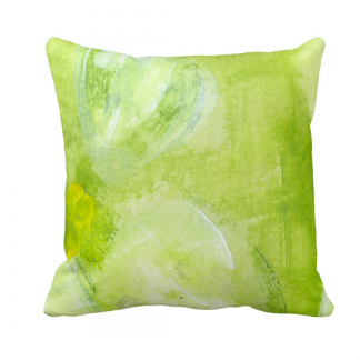 Vihreat-Throw-Pillow designed by Blondina Elms Pastel, elms The Boutique