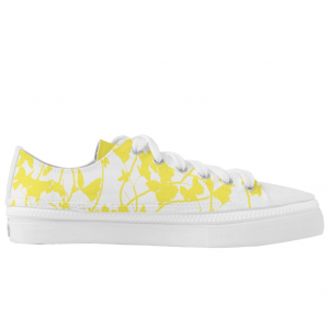 Keltainen-Perhosia-Low-Sneakers designed by Blondina Elms Pastel, elms The Boutique