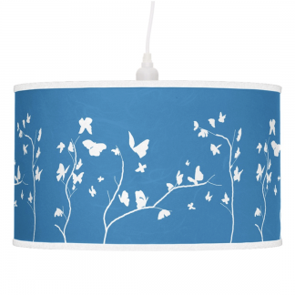 Keltainen-Valkoinen-Perhosia-Pendant-Lamp-Rice-Paper designed by Blondina Elms Pastel, elms The Boutique