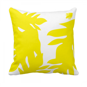 Leipapuun-Hedelma-Keltainen Throw-Pillow designed by Blondina Elms Pastel, elms The Boutique