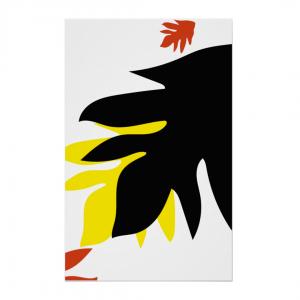 Leipapuun-Hedelma-Musta-Keltainen-Canvas-Print