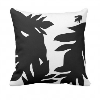 Leipapuun-Hedelma-Musta-Throw-Pillow designed by Blondina Elms Pastel, elms The Boutique