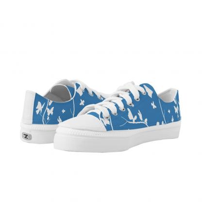 Sininen-Perhosia-Low-Sneakers designed by Blondina Elms Pastel, elms The Boutique