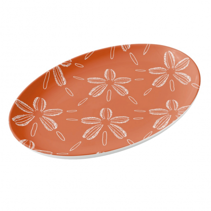 Hiekka-dollari-koralli-porcelain platter tableware designed by Blondina Elms Pastel, elms The Boutique