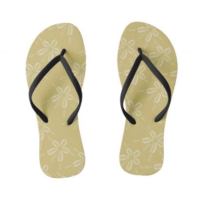Hiekka-dollari-kultainen-flipflops designed by Blondina Elms Pastel, elms The Boutique