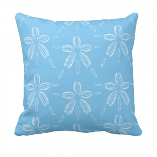 Hiekka-dollari-lampi- throw_pillow designed by Blondina Elms Pastel, elms The Boutique