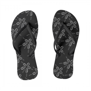 Hiekka-dollari-musta-flipflops designed by Blondina Elms Pastel, elms The Boutique