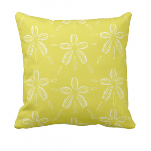 Hiekka-dollari-suonvihrea- throw_pillow designed by Blondina Elms Pastel, elms The Boutique