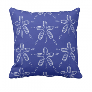 Hiekka-dollari-syvanmeren- throw_pillow designed by Blondina Elms Pastel, elms The Boutique