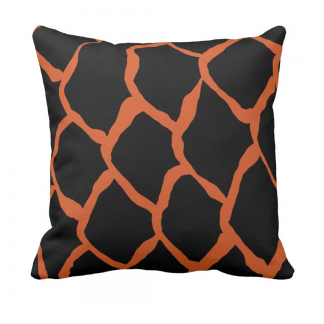 kalan-suomut_koralli-musta throw_pillow designed by Blondina Elms Pastel, elms The Boutique