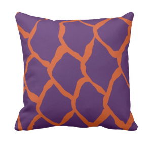 kalan-suomut--koralli-violetti- throw_pillow designed by Blondina Elms Pastel, elms The Boutique