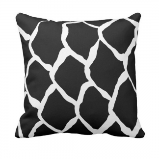 kalan-suomut--musta throw_pillow designed by Blondina Elms Pastel, elms The Boutique