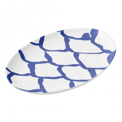 kalan-suomut-syvanmeren-platter porcelain tableware designed by Blondina Elms Pastel, elms The Boutique