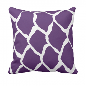 kalan-suomut--violetti throw_pillow designed by Blondina Elms Pastel, elms The Boutique